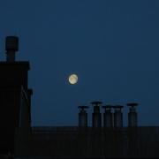 Moon over my terrace