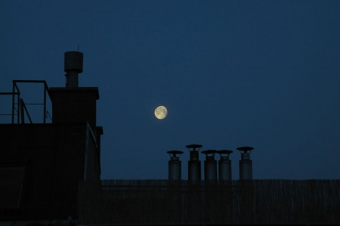 Moon over my terrace