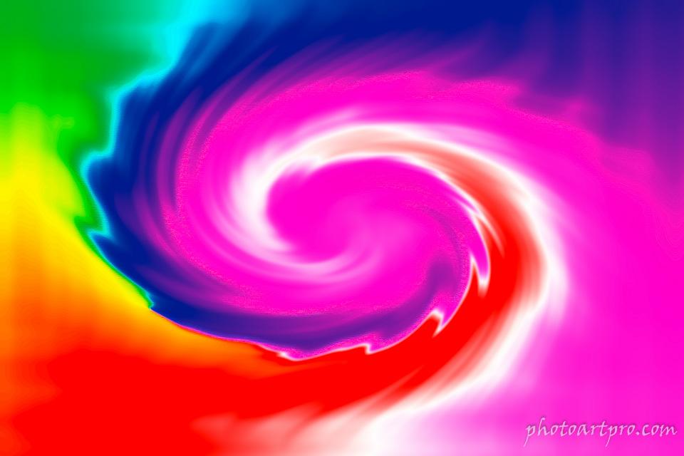 Abstraktes Bild einer bunten Spirale