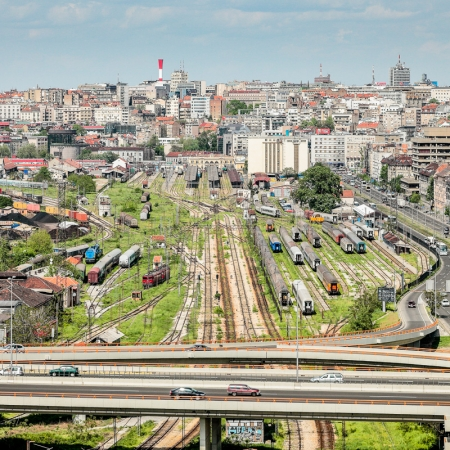 Fotografie BIGZ Tower Belgrad