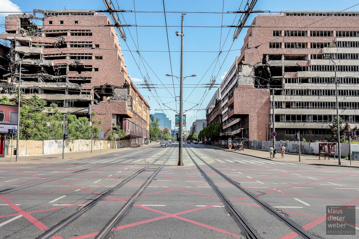 Fotografie Bomb Ruins Belgrad
