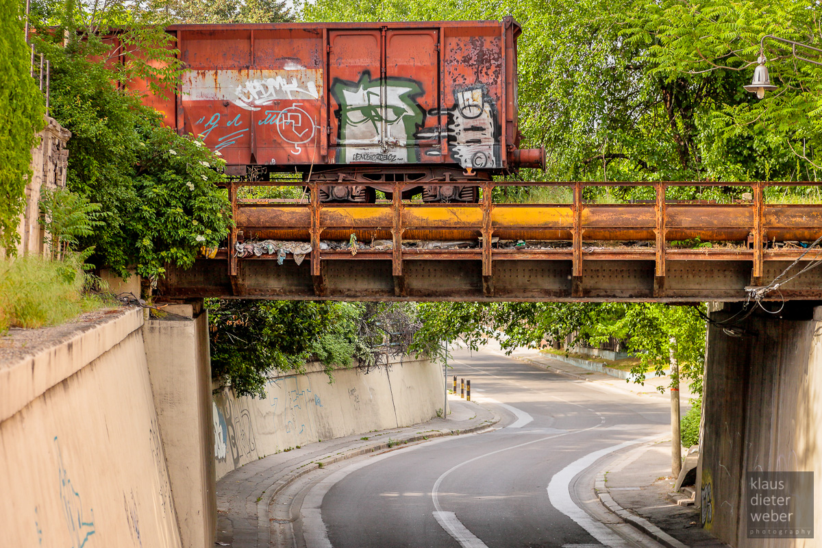 Fotografie Graffiti Train in Belgrad